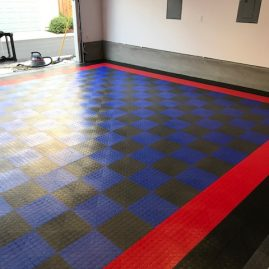 Custom Garage Floor Tiles in Monterey